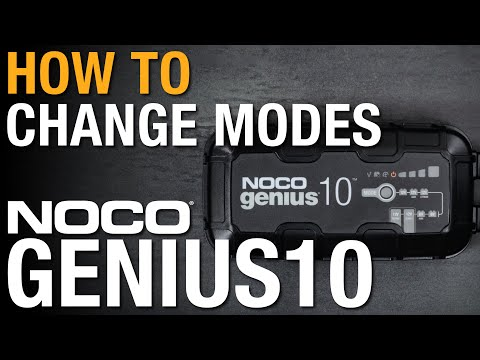 How to change modes on your NOCO GENIUS10