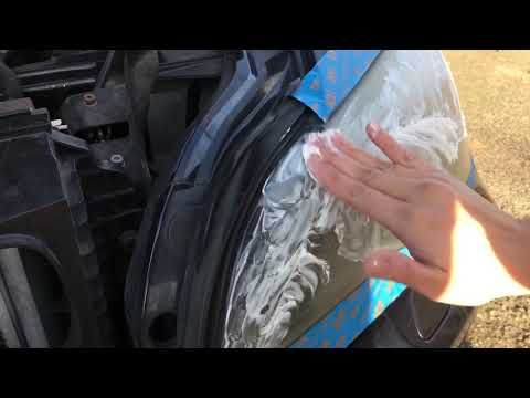Restore a headlight lens with Mothers Mag & Alum Polish