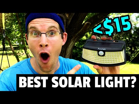 BEST SOLAR SECURITY LIGHT on AMAZON!?   2020 AOOTEK Outdoor Motion Light Review